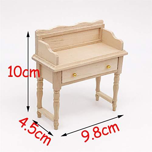 DDLmax Desk Table for 1:12 Dollhouse Wooden Furniture Model Set from DDLmax