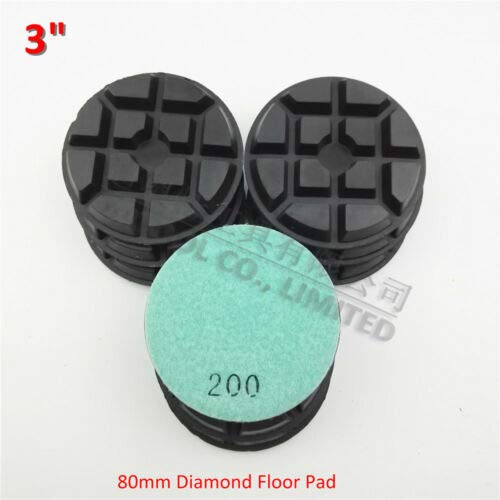 FidgetFidget 9pcs 3 inches Diamond Floor polishing Pads 80mm Grit #200 Sanding disc SA622