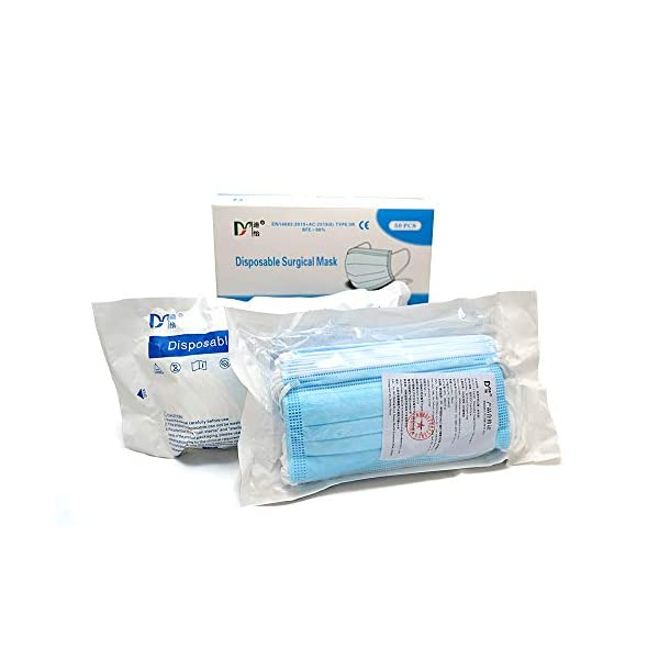 1above 3ply Surgical Face Masks Type Iir En146832019 98 Bfe Medical Fluid Shield Verified And Tested Non Sterile 50 Pcs