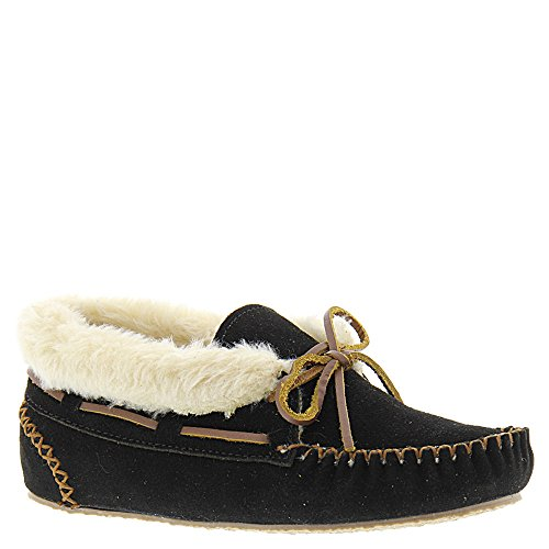 Minnetonka Women's Chrissy Slipper Bootie (6 B(M) US, Black/Tan)