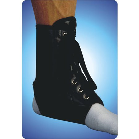 Alex Orthopedic 3154-S Black Vinyl Laceup Ankle Brace Small THIGH & KNEE & ANKLE SUPPORTS (Heel Alex)