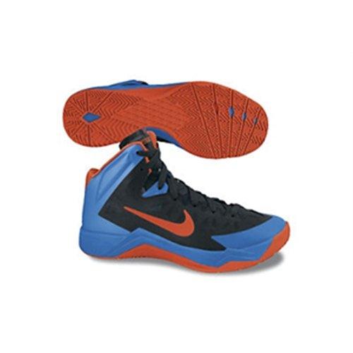Nike Mens Zoom Hyperquickness Scarpe Da Basket Nero / Squadra Arancione / Foto Blu