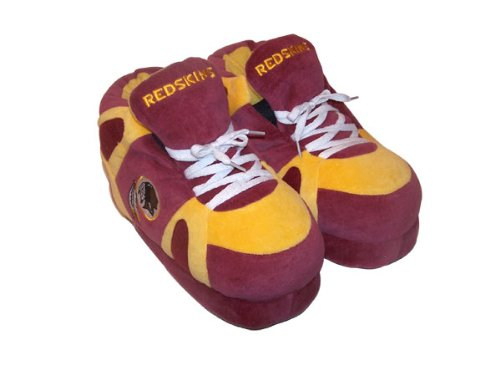 Happy Feet Comfy Feet - Officially Licensed Mens and Womens NFL Sneaker Slippers Washington Redskins 0tard