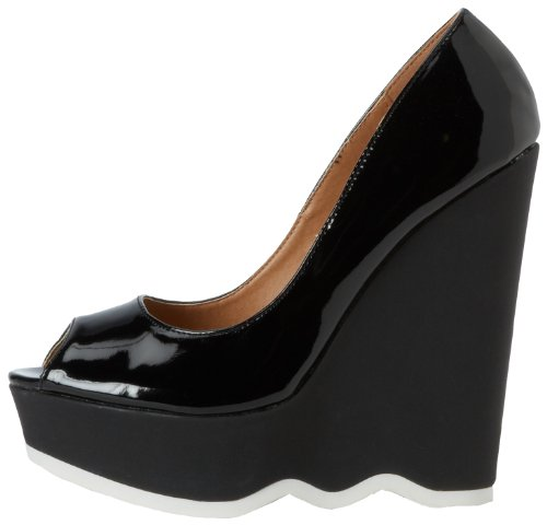 C Label Womens Carol-4 Wedge Pump Black Aw2MOTt