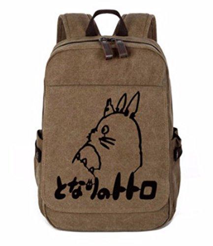 rare Schultertasche Tasche Shoulder Bag Rucksack reisetaschen Braun Schwarz Totoro new