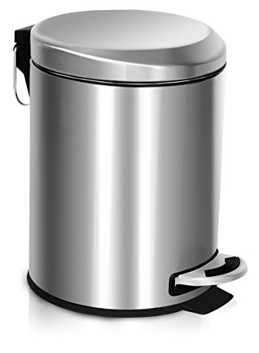 Stainless steel Trash Can With Lid (Mini) - A...
