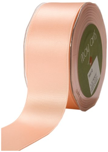 May Arts 1-1/2-Inch Wide Ribbon, Peach Satin
