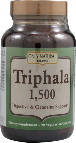 Only Natural Triphala -- 1500 mg - 90 Vegetarian Capsules - 3PC by Only Natural