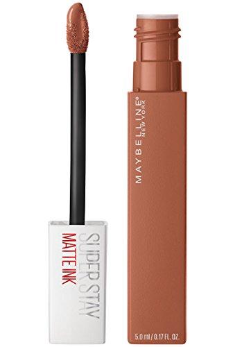 Maybelline Makeup SuperStay Matte Ink Liquid Lipstick, Fighter Nude Matte Lipstick, 0.17 fl oz