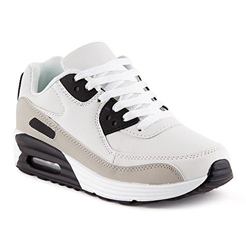 Sneaker grau Sportschuhe Laufschuhe Damen weiss Fivesix Schwarz w Herren Dämpfung w1IqxxC4
