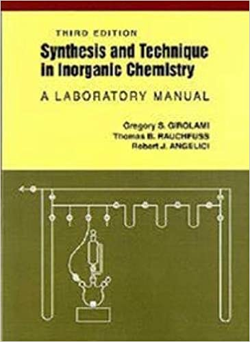 Amazon com: Synthesis and Technique in Inorganic Chemistry: A