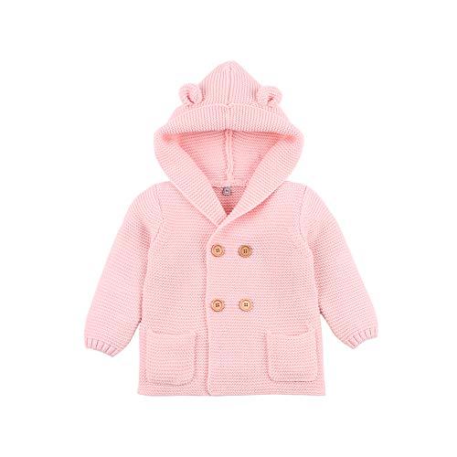 VICROAD Baby Vest Hooded Jassen Jongens Meisjes Gebreide Jassen Warm Trui Outwear
