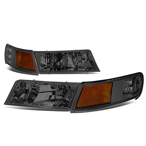 - For Mercury Grand Marquis 3rd Gen Pair of Smoked Lens Amber Corner Headlight + Corner Lights
