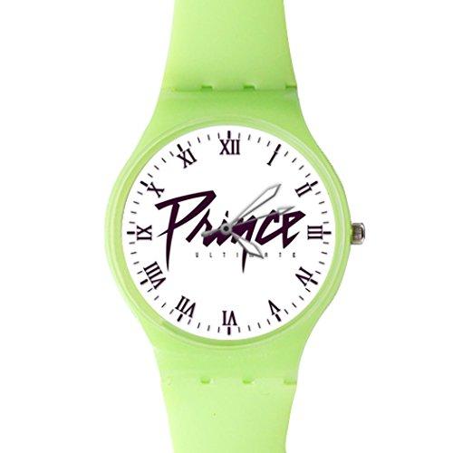 G Store Csdw05181587 Prince Ultimate Quartz Plastic Green Dial Watch