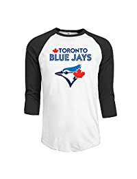 Men's 2016 Playoff Toronto Blue Jays Logo 3/4 Sleeve Raglan T-Shirt