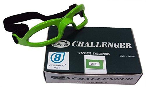 CHALLENGER Lensless Coloured Eyeguards - Green -