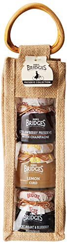 - Mrs Bridges Tall Triple Preserve Collection - 4 Ounce (Strawberry Preserve with Champagne, Lemon Curd, and Blackcurrant & Blueberry Preserve)