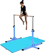 Costzon Junior Training Bar, Gymnastics Adjustable Steel Gymnastic Horizontal Bar