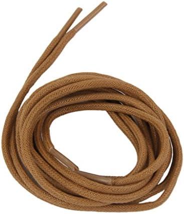 ワックス 靴ひも コード 70cm長さ 直径3ミリメートル 赤茶色
