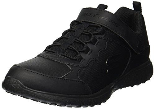 Skechers Kids Girls' Microburst-Preppy STEPPY Sneaker, BBK, 11 Medium US Little Kid