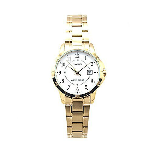 Casio Women's LTP-V004G-7B Gold Ion Plated Stainless Steel Band Analog Watch