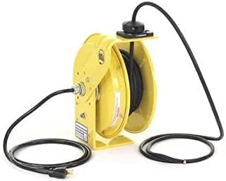 product image for Cord Reel, 25 ft, 12/3, SJ, Yellow, 120VAC