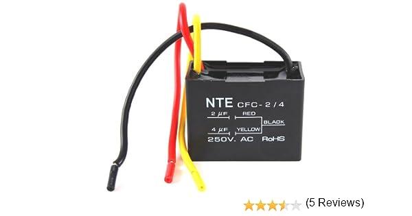 NTE Electronics CFC-2/4 Series CFC - Condensador de ventilador de ...