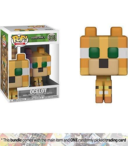 Funko Ocelot POP! Games x Minecraft Vinyl Figure + 1 Video Games Themed Trading Card Bundle [#318]]()