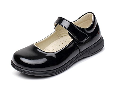 BTDREAM Girl's Oxford Leather School Uniform Dress Shoes Black Size 35(Toddler/Little Kid/Big Kid) (Patent Dress Shoes)