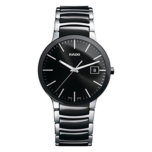 Rado-R30934162-Centrix-Ceramic-Mens-Watch-Black-Dial