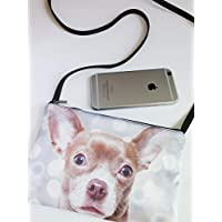 Chihuahua dog phone cross body bag, dog purse, shoulder bag, hipster