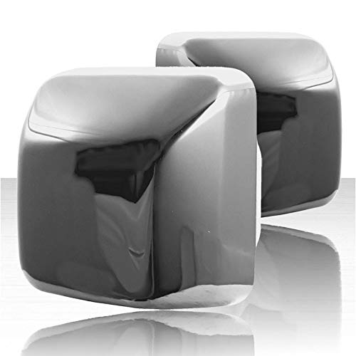 Set of 2 Top Half Replacement Mirror Covers for 18-19 Jeep Wrangler JL - Chrome
