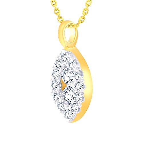 Giantti Diamant Pendentif Femme Collier (0.11CT, qualité HSI, Gh-colour)