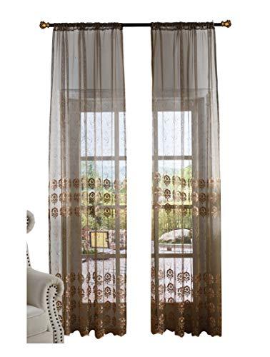 Cortinas de estilo europeo de lujo, con diseño clásico de jacquard, para ventana, ventanas, tratamiento para sala de estar,...