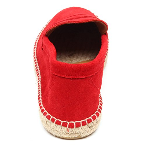 uomo leather ABARCA shoe mocassino espadrillas red loafer man Rosso D2584 Epwv1xwqa