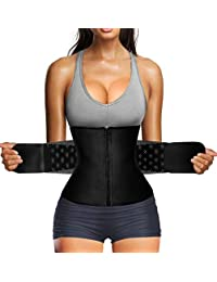 Nebility Women Waist Trainer Corset Tummy Tucker Weight Loss Workout Waist Cincher Trimmer