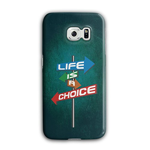- Choice Life Path Slogan Choice Life Path Slogan Case for Samsung Galaxy, Non-Slip Cover - Slim Fit, Comfortable Grip, Protective Case by Wellcoda