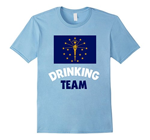 Mens Indiana US State Drinking Team Shirt Drunk Alcohol Tee Large Baby (Us Beer Drinking Team)