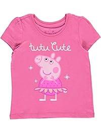 """Peppa Pig Little Girls' Toddler """"Tutu Cute"""" T-Shirt"""