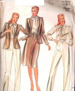 (Vintage Uncut Butterick Sz 6 jacket, blouse, skirt and pants pattern 3942)