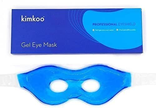 Kimkoo Gel Eye Mask Cold Pads&Cool Compress for Puffy Eyes and Dry Eye,Cooling Eye Ice Masks Gel