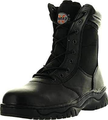 Amazon.com: Mens 1009Bl Tactical Boots Black Side Zipper 8