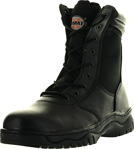 Mens 1009Bl Tactical Boots Black Side Zipper 8 Combat Military Swat Work Shoes Black