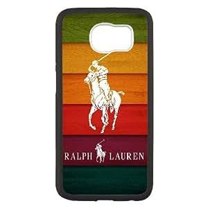 Ralph Lauren I2O2If Funda Samsung Galaxy S6 Funda caja del teléfono celular Funda caja del teléfono Negro Q9C5KY Diseño 3D