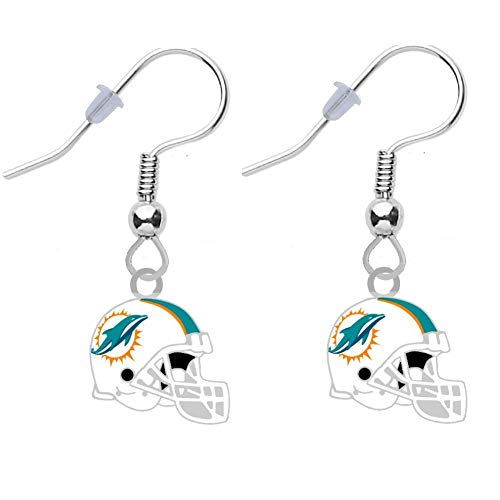 (Final Touch Gifts Miami Dolphins Helmet Earrings)