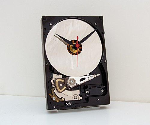 Hard Drive Clock, computer parts clock, computer hard drive clock, nerd gift idea, geek gift clock,
