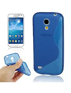 Semi-rígido funda con tapa para Samsung Galaxy S4 Mini translúcido azul
