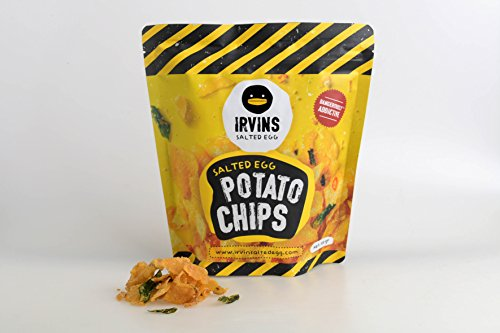 IRVINS Salted Egg Potato Chips Crisps 230g (Fried Potato Chips)