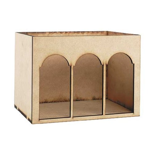 Dollhouse Miniature Arched Room Box ()