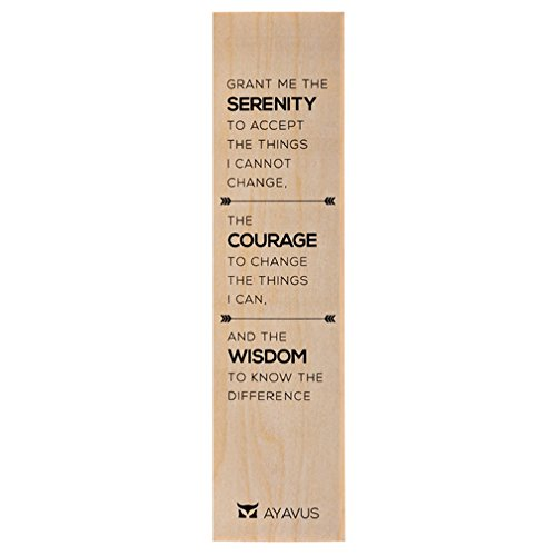 Grant Me The Serenity To Accept the Things I Cannot Change Courage Wisdom Quotes Self Improvement Acceptance Ultra Thin Eco Wood Bookmark Made In The USA